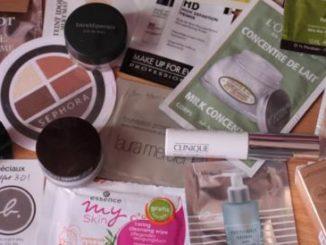 Des échantillons gratuits en cosmétique